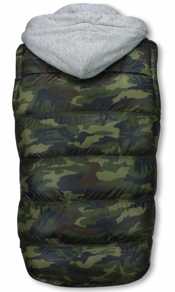 Yole Bodywarmer Heren - Camouflage Vest Capuchon