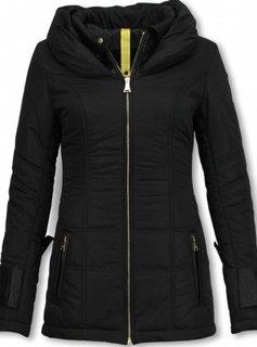 Milan Ferronetti Dames Winterjas Halflang - Regular Slim - Fit Edition - Zwart