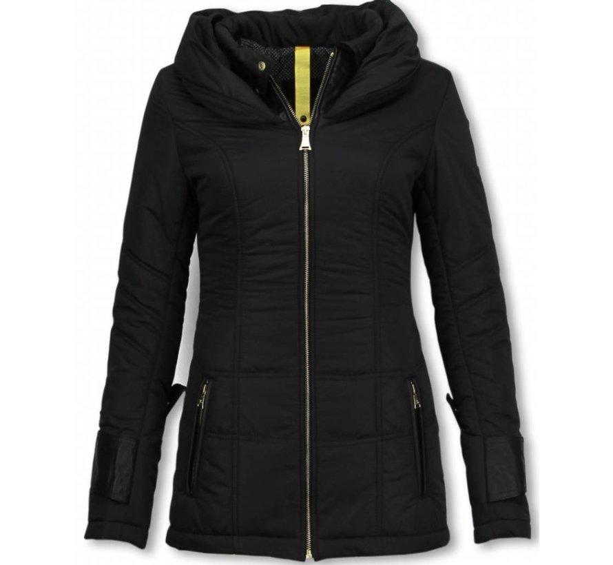 Dames Winterjas Halflang - Regular Slim - Fit Edition - Zwart