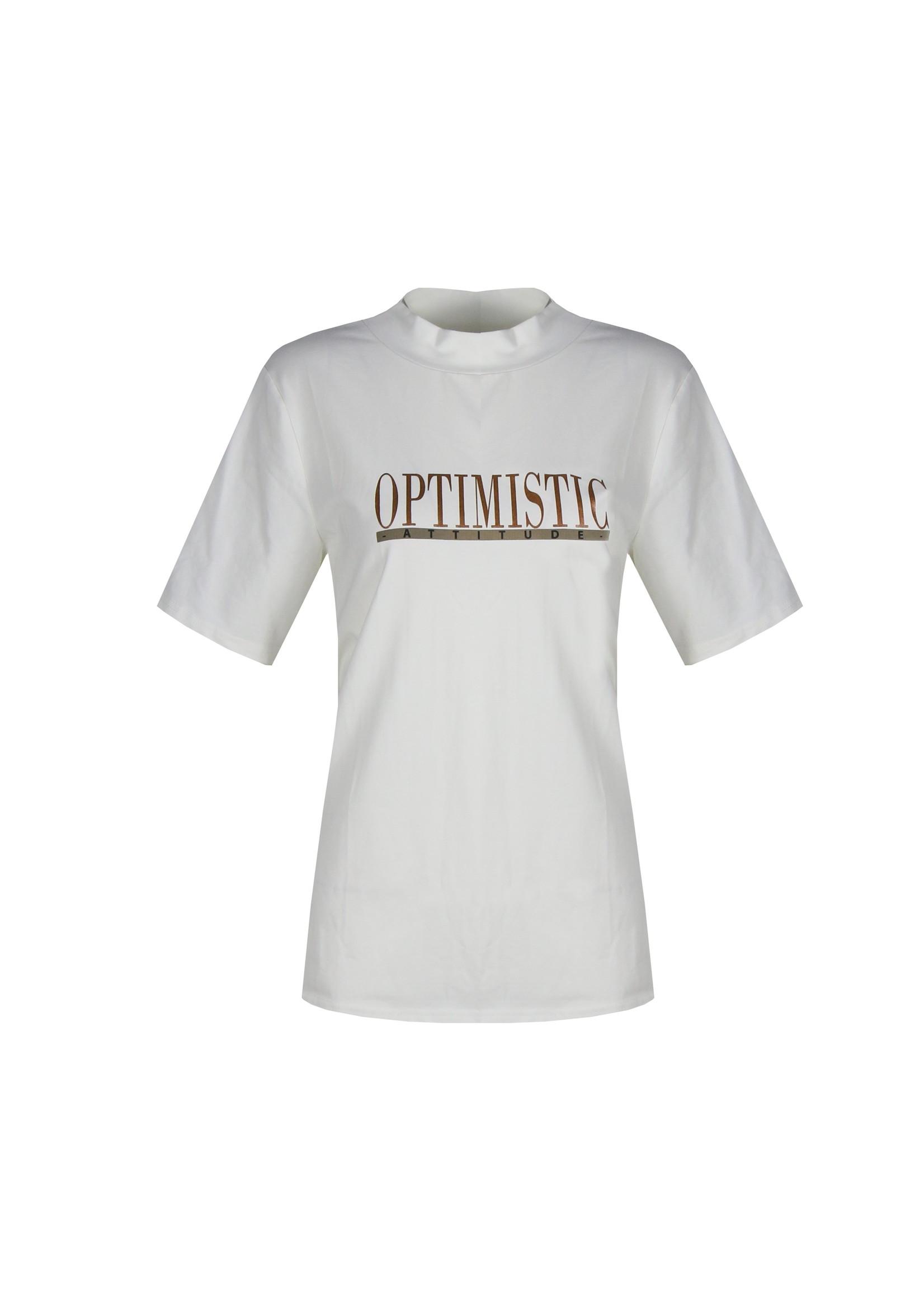 G-Maxx G-Maxx - Harper t-shirt - Optimistic - wit