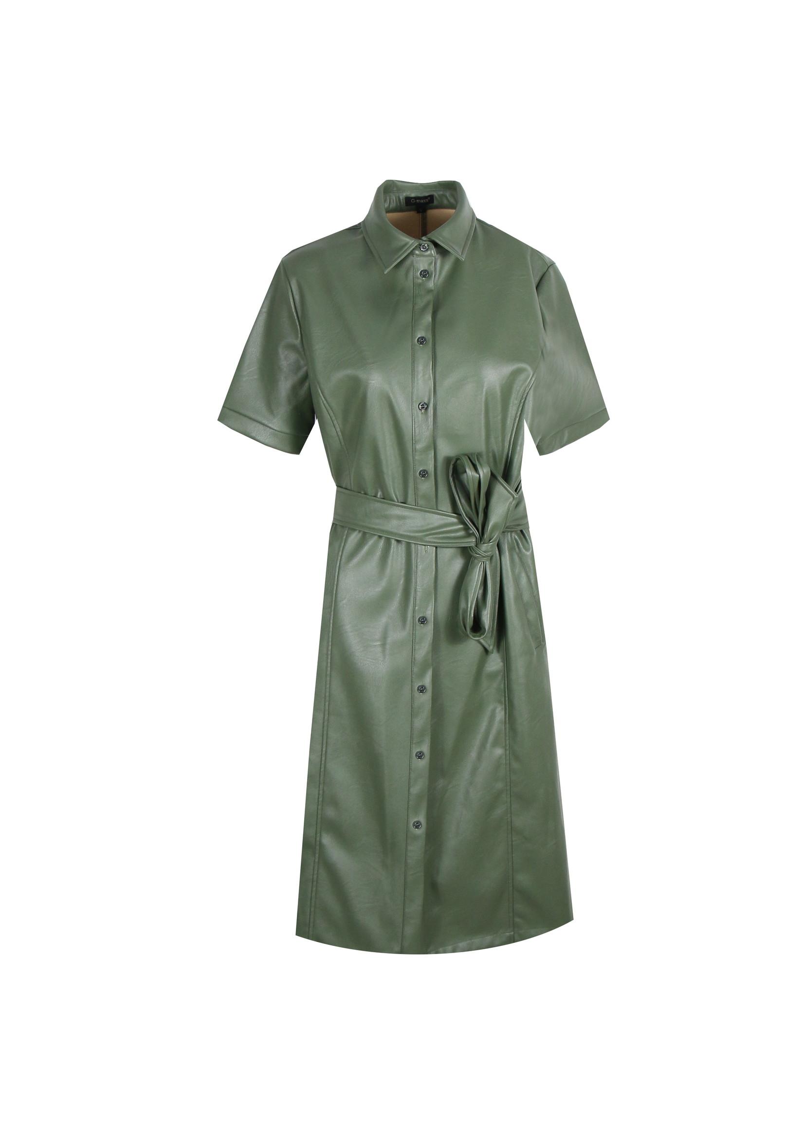 G-Maxx G-Maxx - Giana - jurk groen, vegan leather