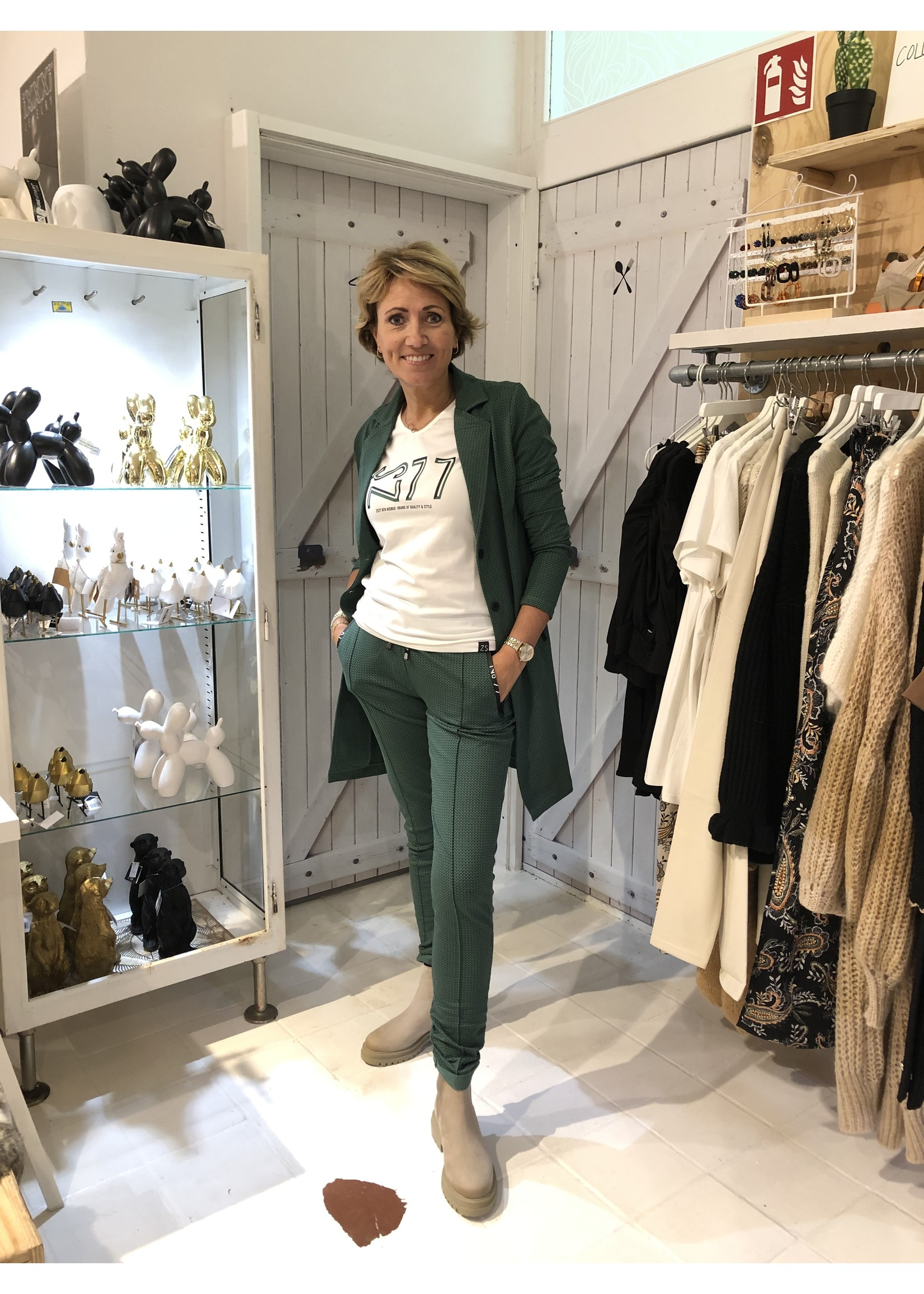 Zoso Zoso - Denise - broek - Groen/zwart