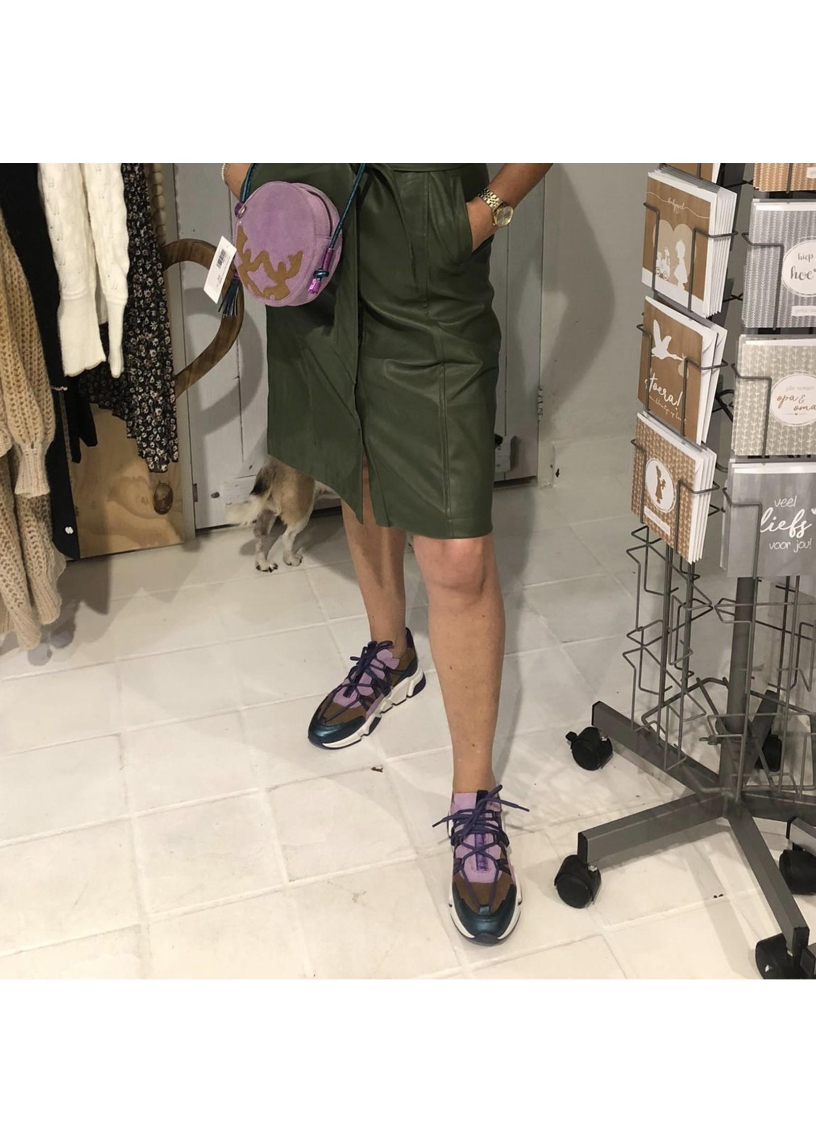 Dwrs DWRS  Los Angeles sneaker, cognac/lila
