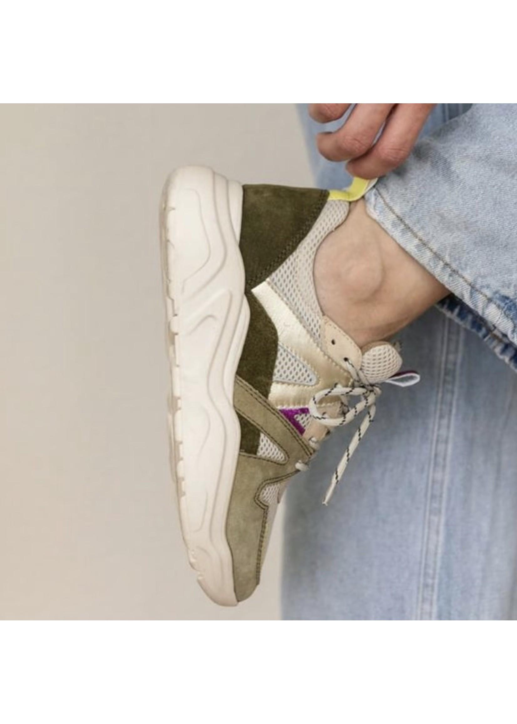 Poelman Poelman sneaker, cactus/lemon