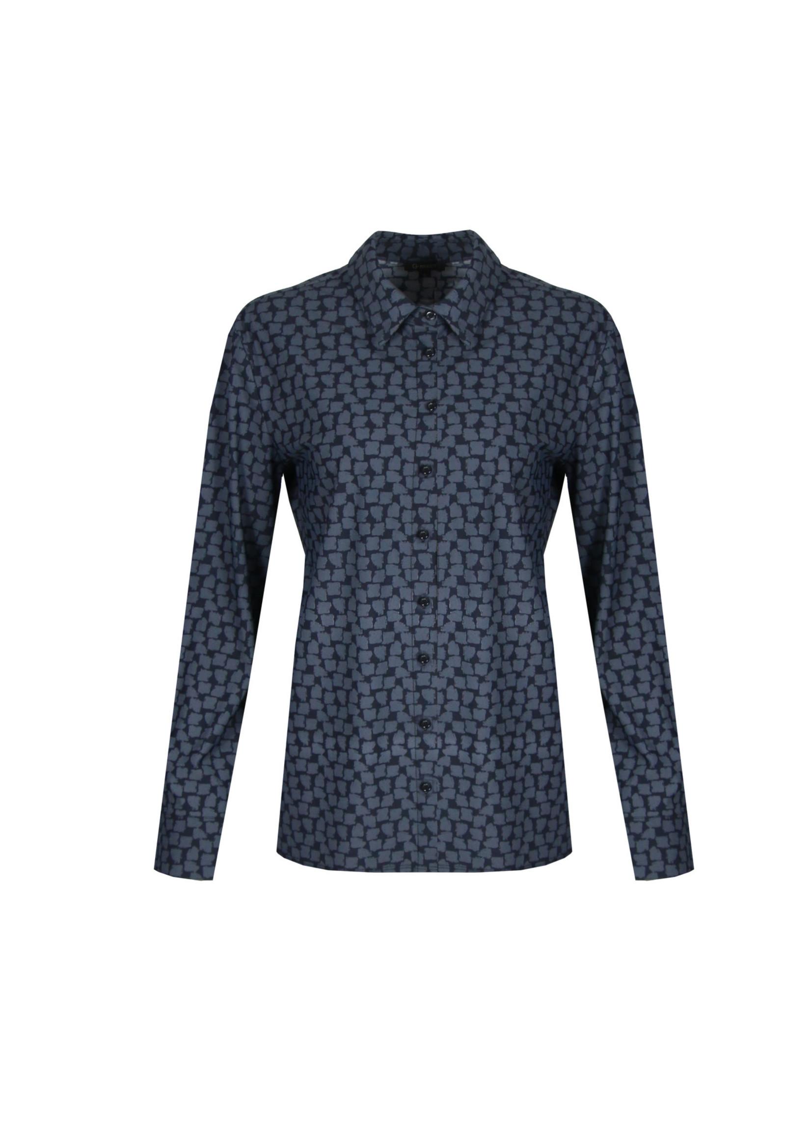 G-Maxx G-maxx - Amalia blouse - Zwart/jeansblauw