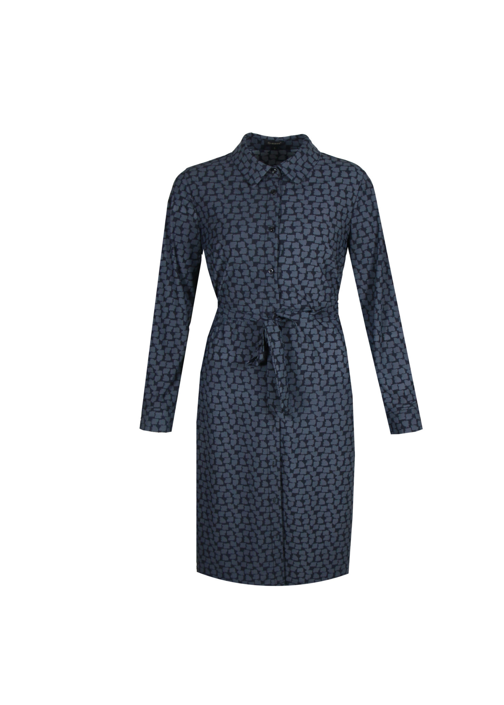 G-Maxx G-maxx - Chibi jurk - Zwart/jeansblauw