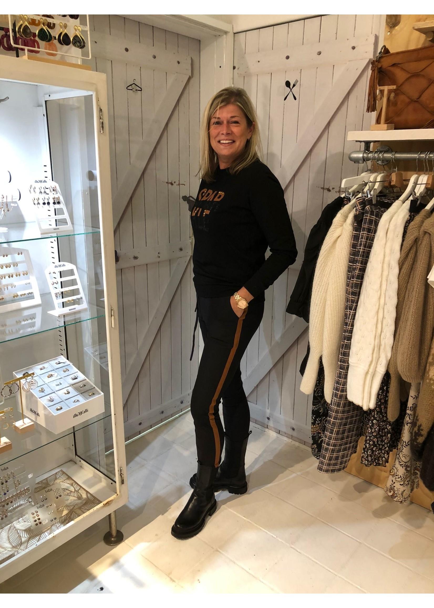 G-Maxx G-maxx - Tiffany broek - Zwart/sahara