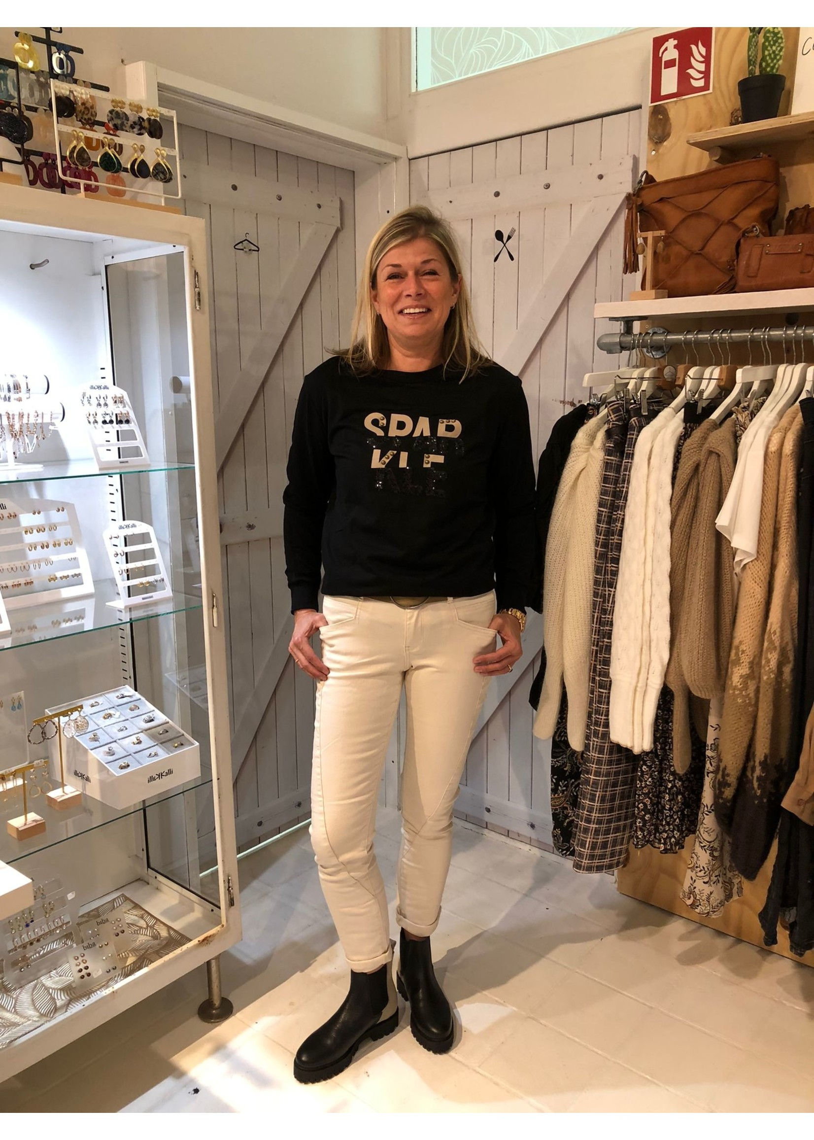 G-Maxx G-maxx - Kendra sweater - Zwart/sahara