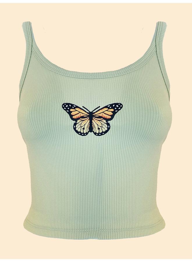 Top Papillon - Vert