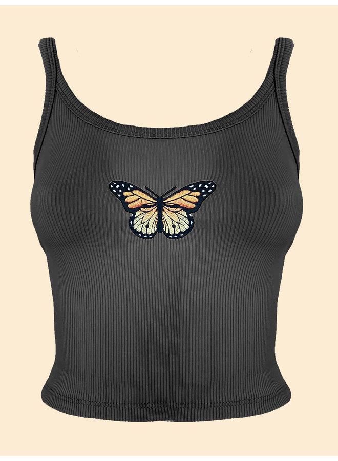 Top Papillon - Noir