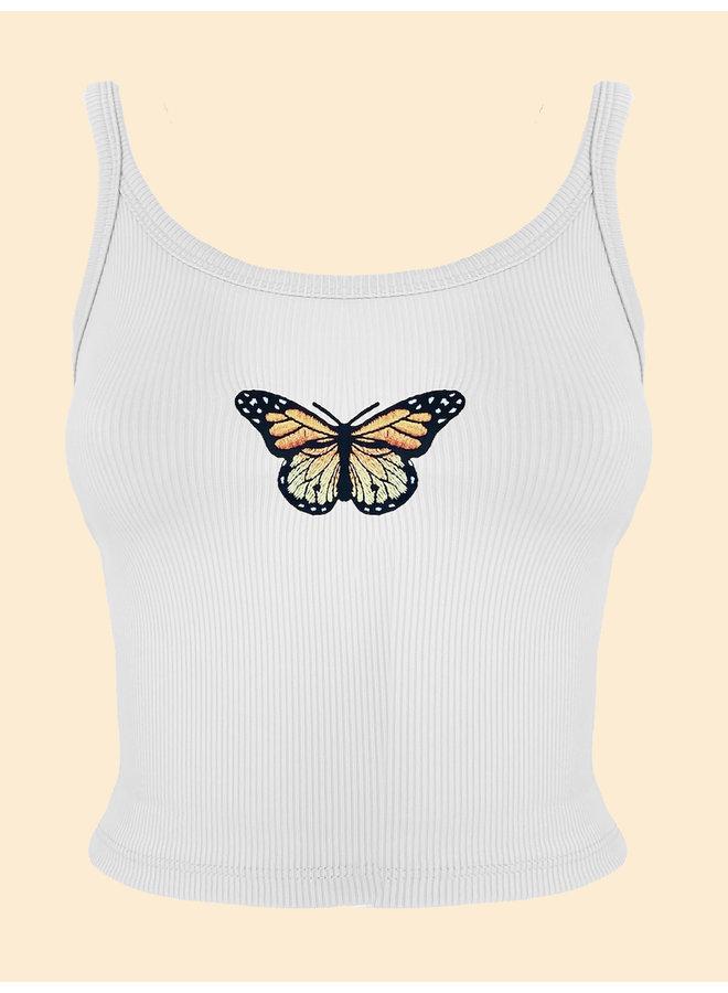Top Papillon - Blanc