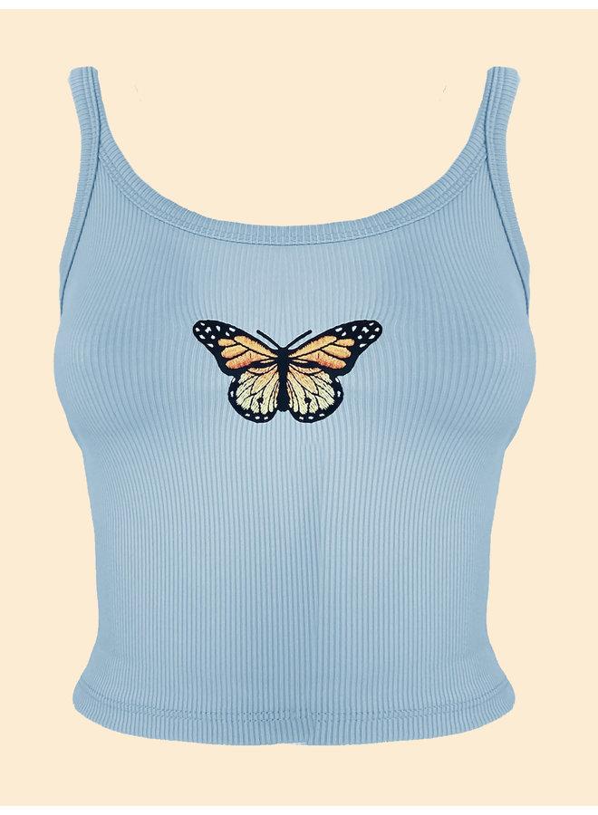 Top Papillon - Blue