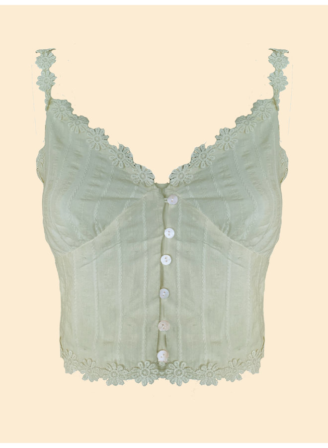 Cropped Top Angele - Vert (one size)