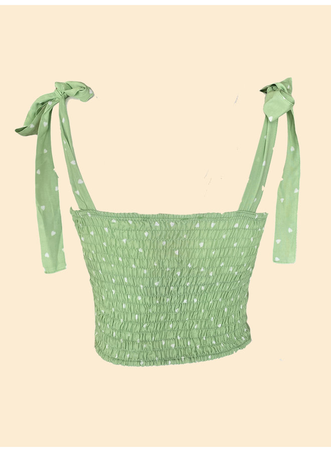 Cropped Top Amour - Vert