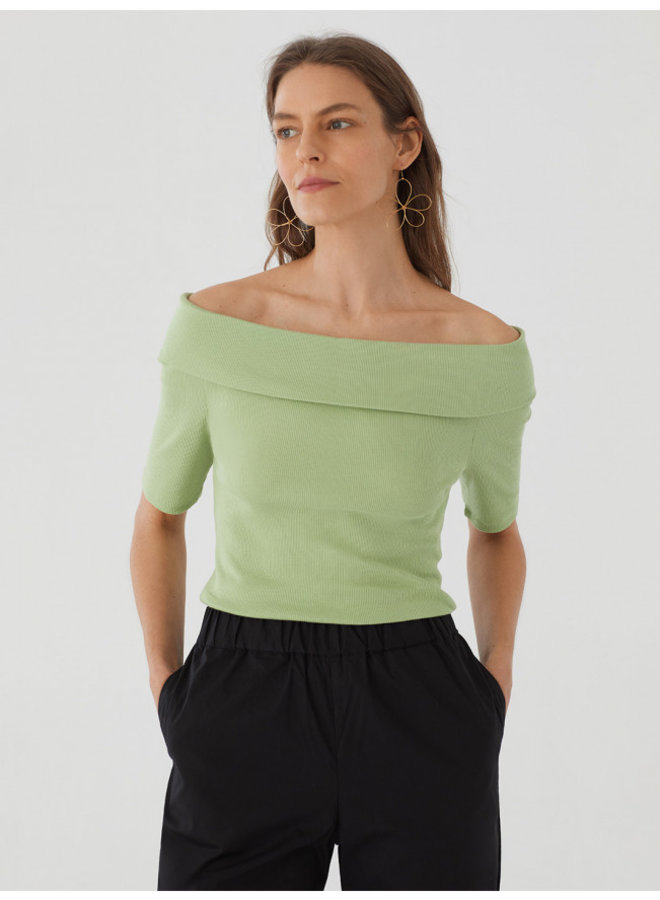 Nice Things - Organic cotton bardot top