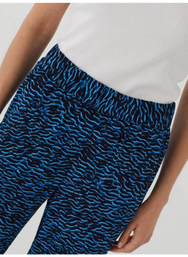 Nice Things Waves Print Poplin Pants