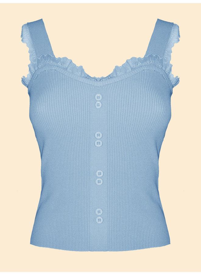 Top Lacy - Bleu