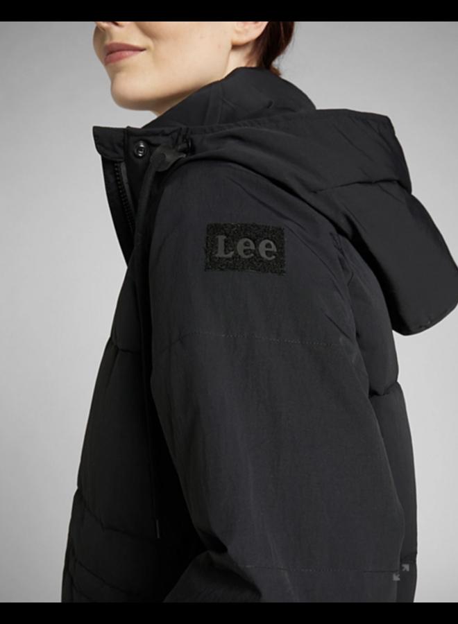 Lee Long Puffer Jacket - Black