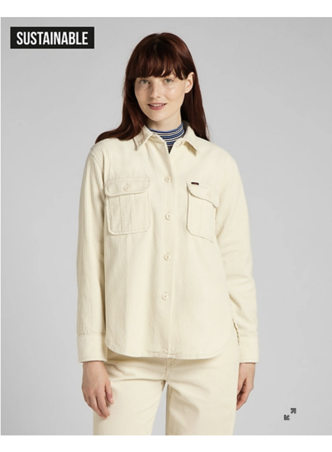 Lee Relaxed Fit Overshirt - Shark Tooth