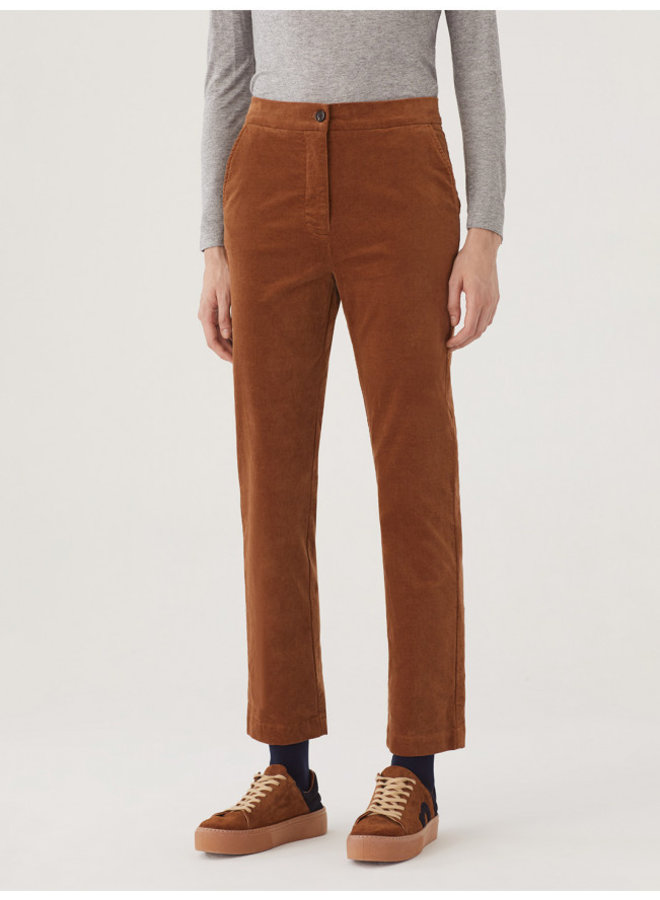 Nice Things Velveteen Trousers - Camel