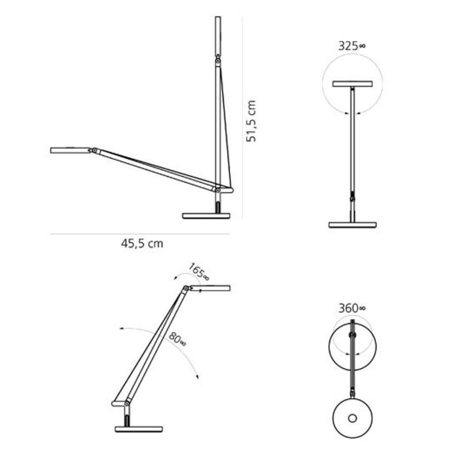 Dimbare tafellamp Demetra Micro met geïntegreerde LED
