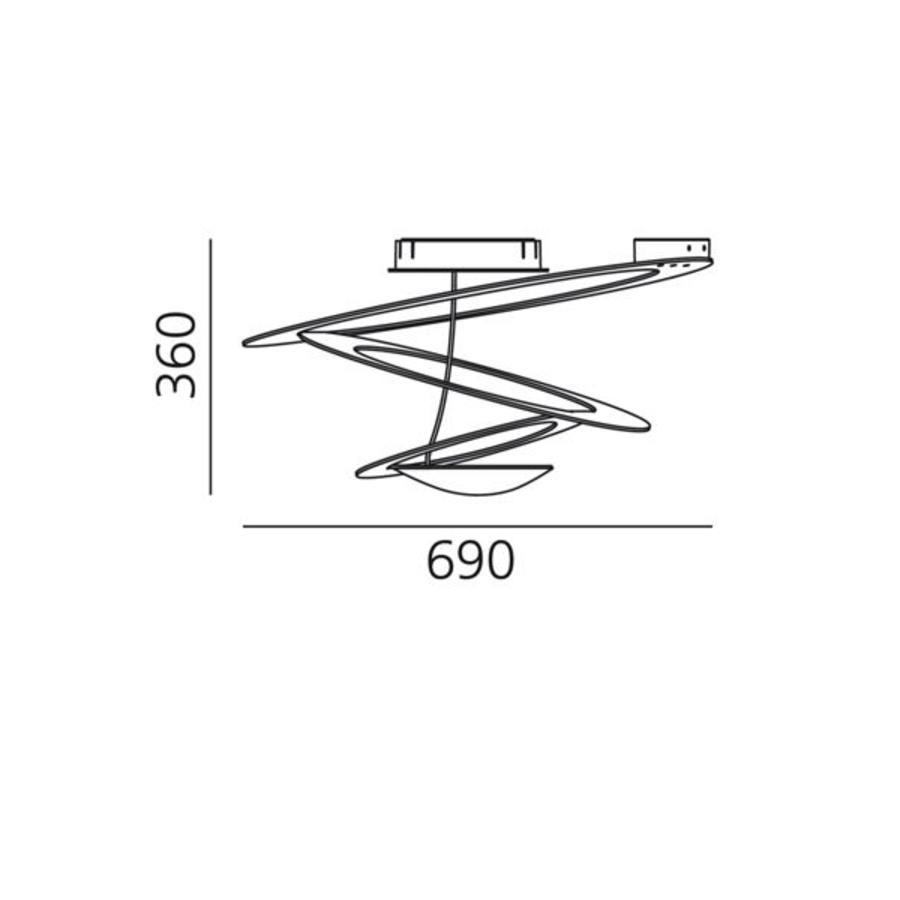 Plafondlamp Pirce Mini Halogeen