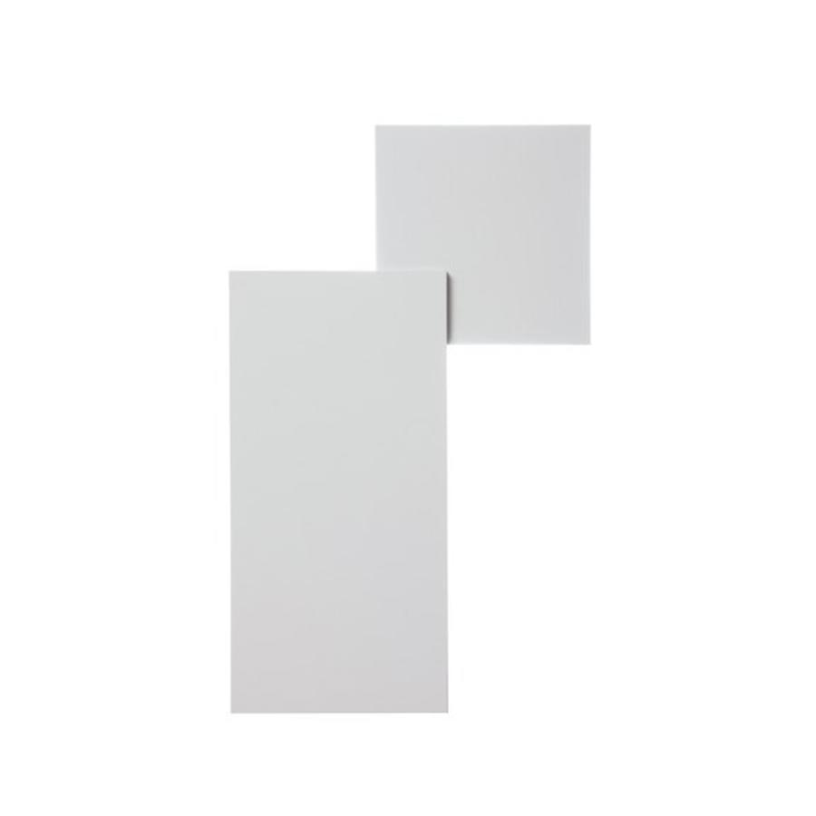 Dimbare Wand-plafondlamp Puzzle Square & Rectangle met geïntegreerde LED
