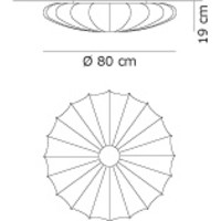 Wand-/plafondlamp Muse Ø 80 cm