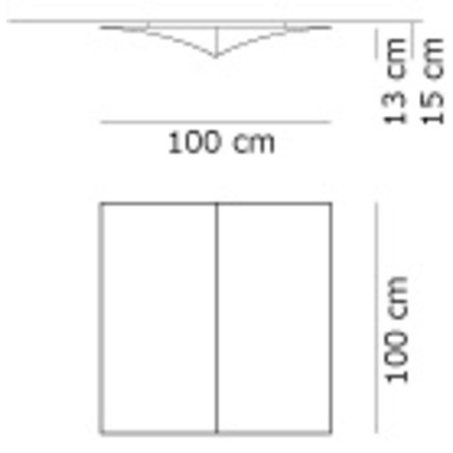 Wand-/plafondlamp Nell S 100 cm