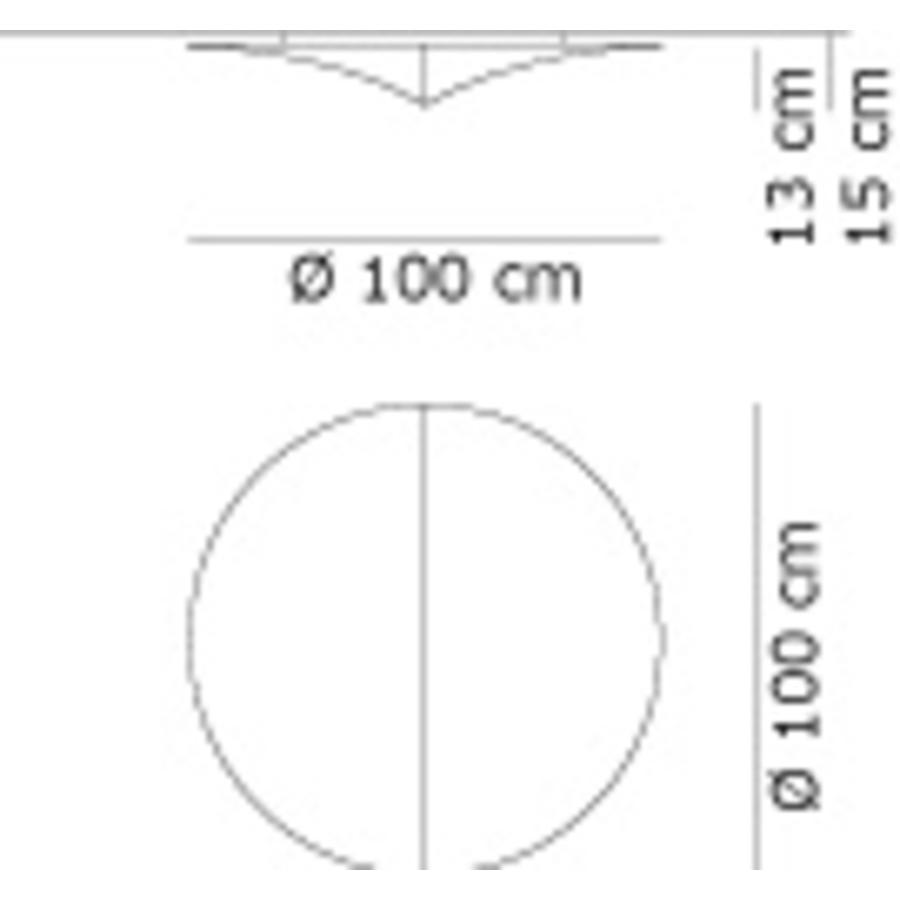 Wand-/plafondlamp Nell Ø 100 cm