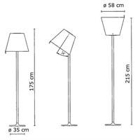 Dimbare Vloerlamp Melampo Mega