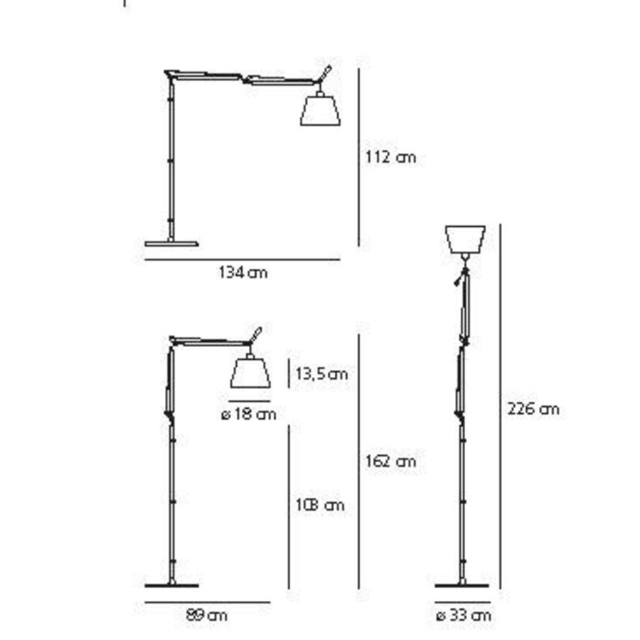Vloerlamp Tolomeo Basculante