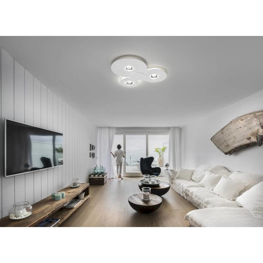 Dimbare plafondlamp Bugia Triple met geïntegreerd LED