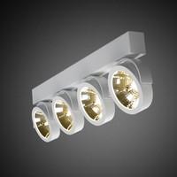 4-lichts opbouwspot Zoom 4