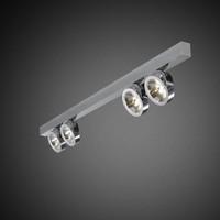 4-lichts Opbouwspot Zoom 4L