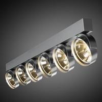 6-lichts Opbouwspot Zoom 6
