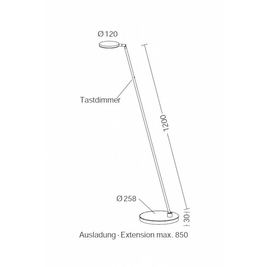 Dimbare vloerlamp Plano S met geïntegreerde LED