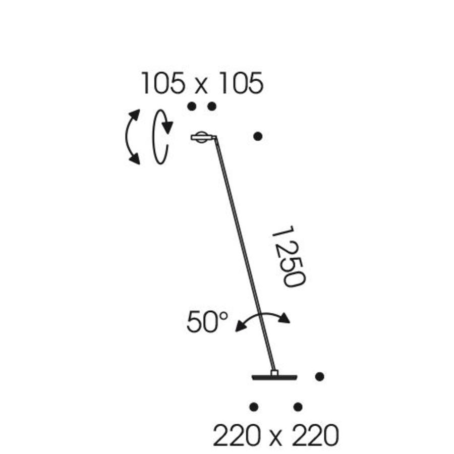 Vloerlamp Kelveen LED - 2700K - H 125 cm
