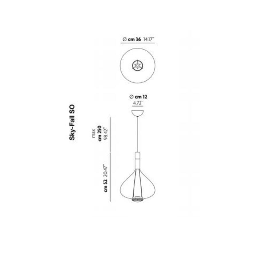 Dimbare Hanglamp Sky-Fall Large LED (inclusief driver)