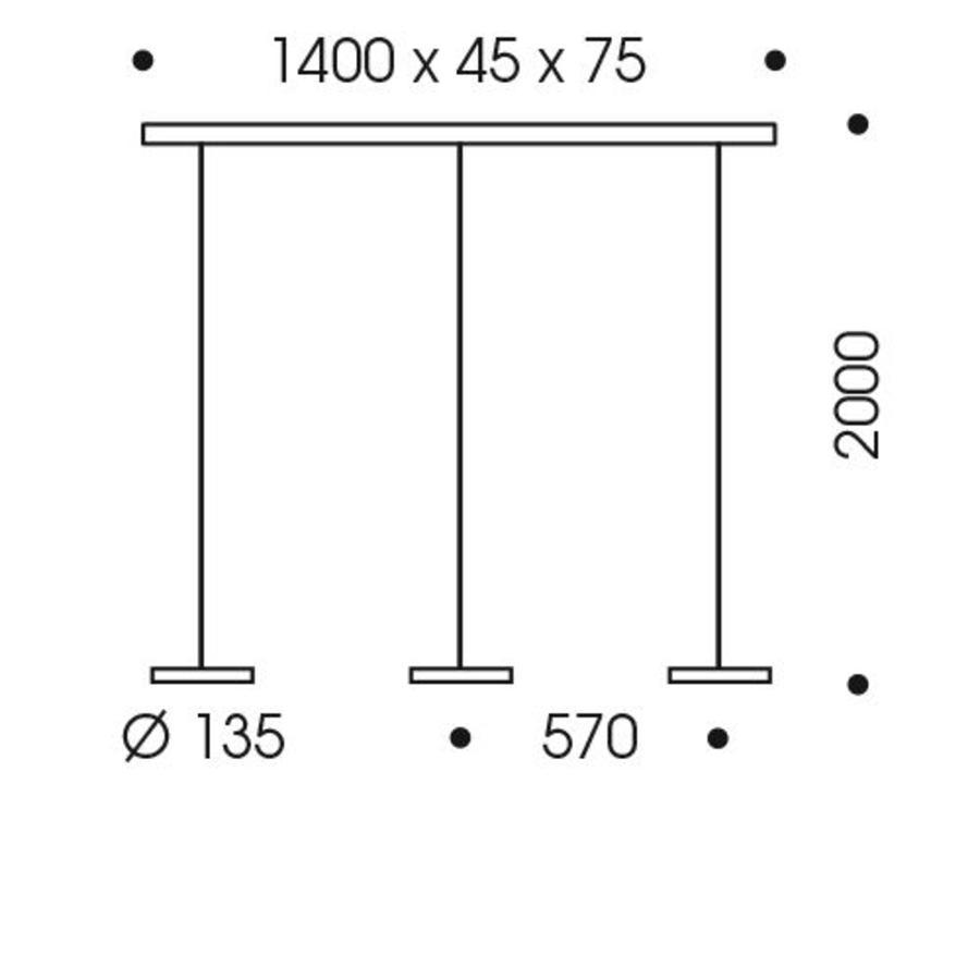 In hoogte verstelbare 3-lichts Hanglamp Decent