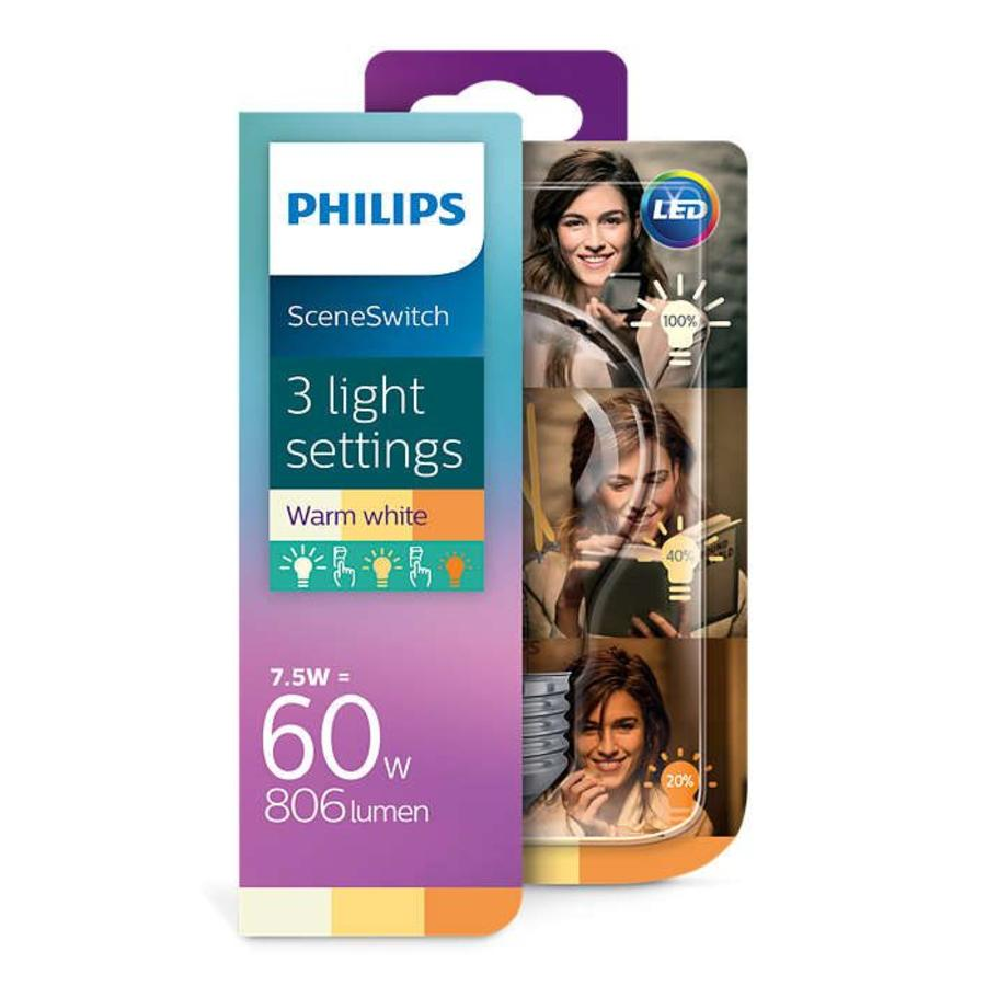Lichtbron Philips SceneSwitch LED E27 7,5W