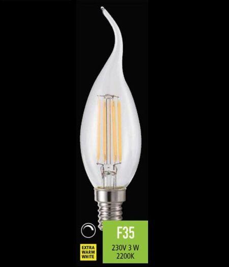 LED Filament Tipkaars E14 3W