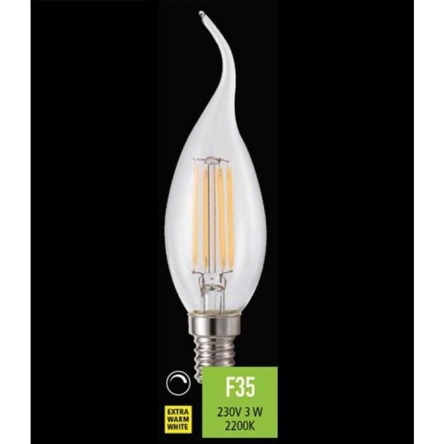 Dimbare LED lichtbron Filament Tipkaars E14 - 3 Watt