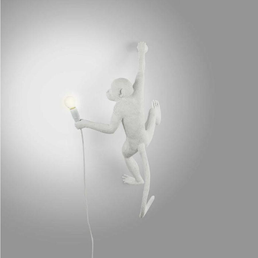 Wandlamp Monkey Lamp Hanging Rechts Wit Indoor/Outdoor