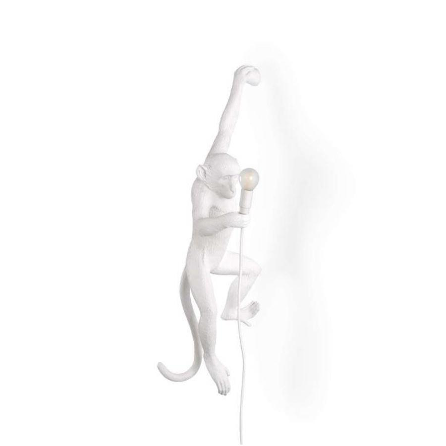 Wandlamp Monkey Lamp Hanging Links Wit Indoor/Outdoor