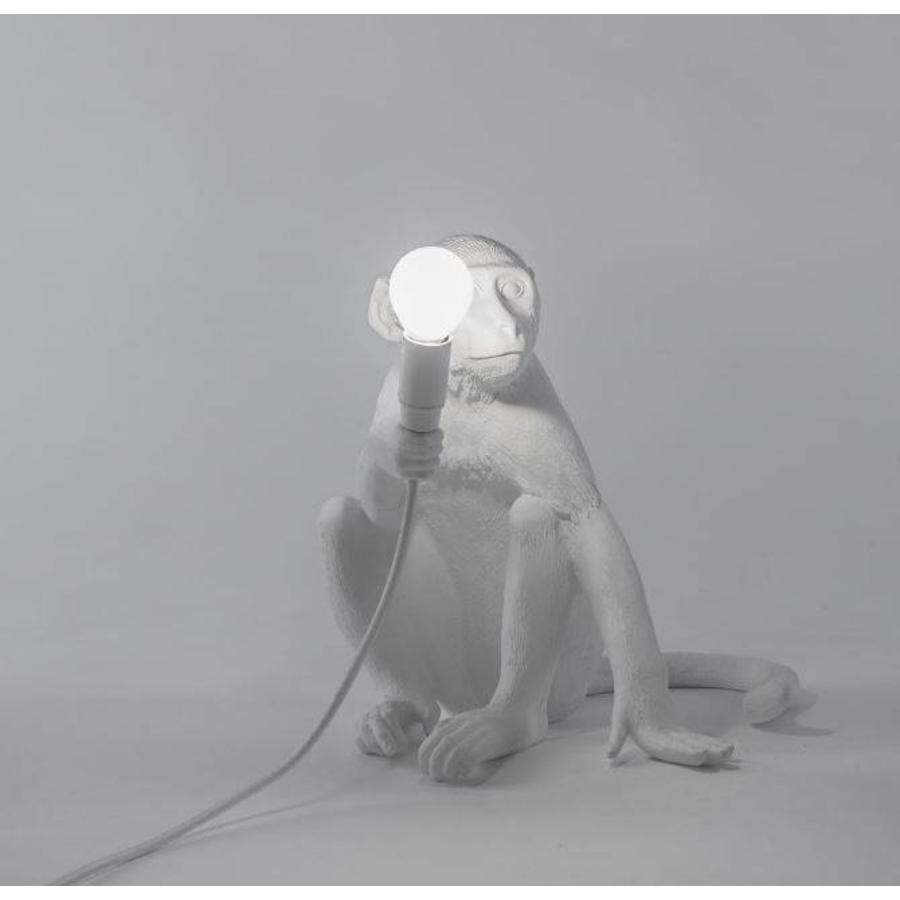 Tafellamp Monkey Lamp Sitting Wit Indoor/Outdoor