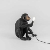 Tafellamp Monkey Lamp Sitting Zwart Indoor/Outdoor