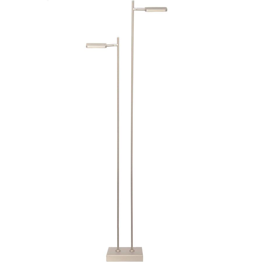 Dimbare 2-lichts Vloerlamp Block Staal
