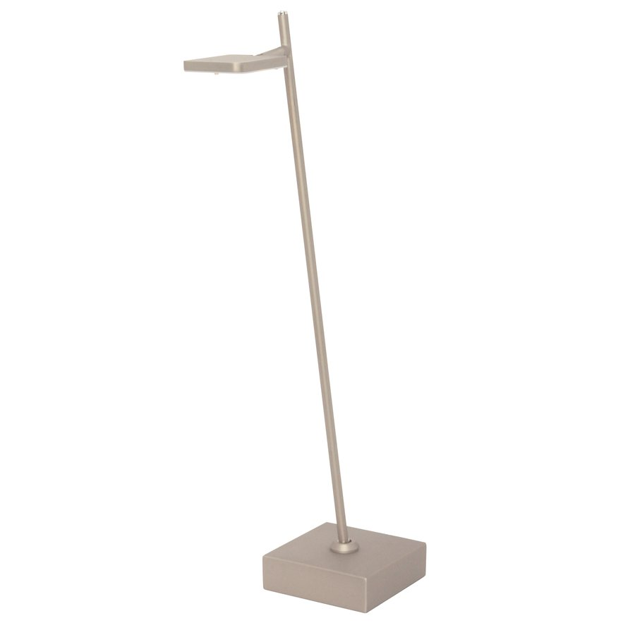 Dimbare tafellamp Block Staal met geïntegreerde LED