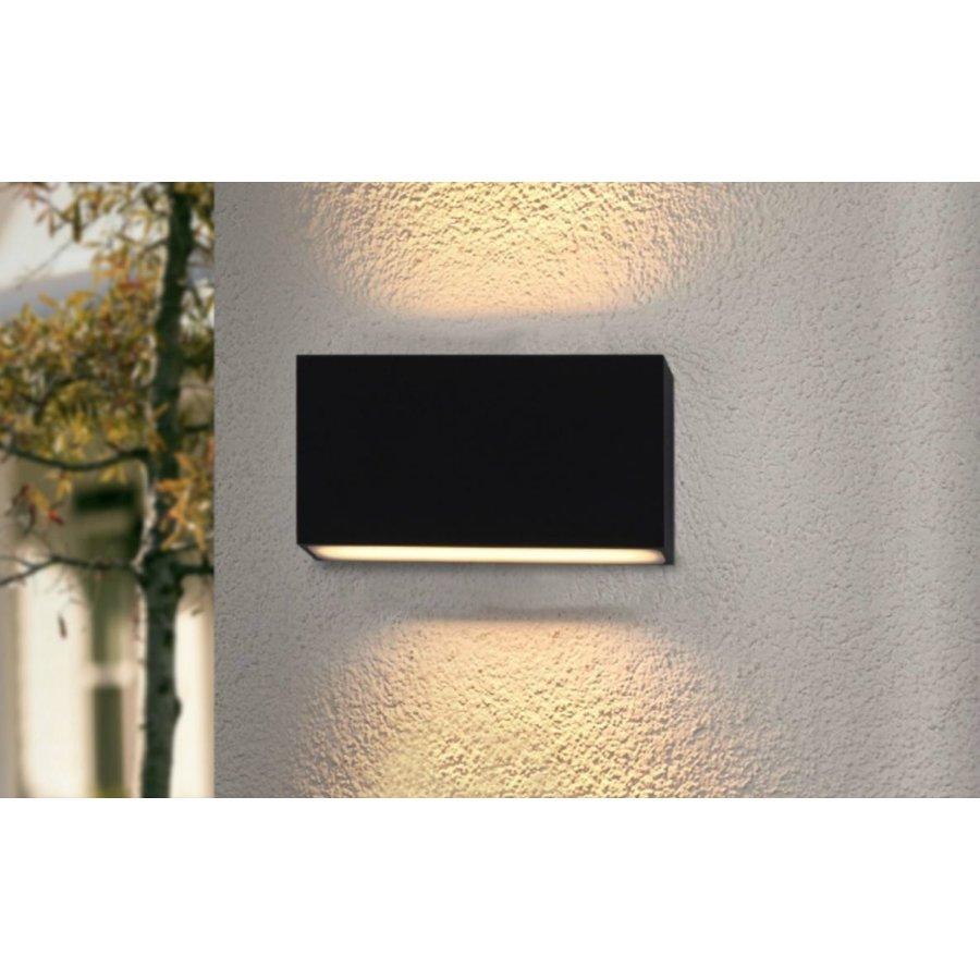 Dimbare in- en outdoor wandlamp Box met geïntegreerde LED